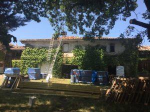 Réfection de la toiture de la grange